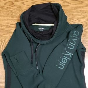 Dark green with black on sides funnel neck